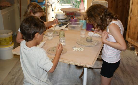 Découverte de la poterie durant les vacances
