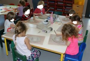 Animation modelage à l'ecole maternelle
