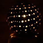 Lampe céramique réalisé en faïence blanche polis cirée diamètre de 25 cm hauteur 26cm