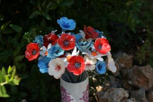 Bouquet de fleurs céramiques